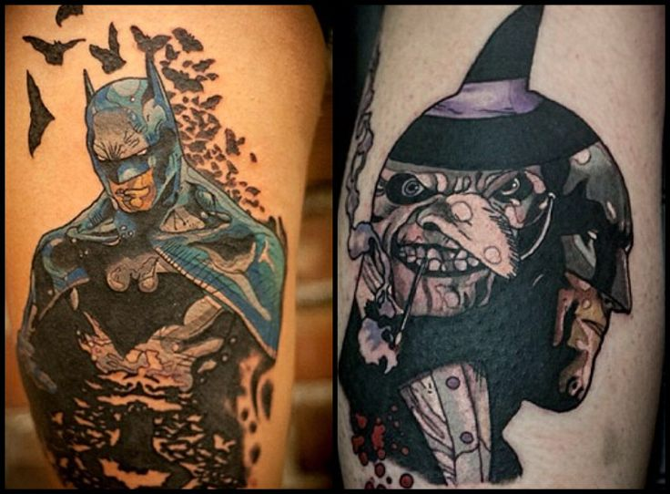 Batman tattoos by stephen shaw at gastown tattoo parlour vancouver