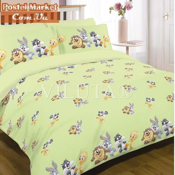Постельное белье Вилюта в кроватку 9509 зеленое