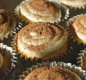 """Tiramisu Cupcakes: """"I give these 10 stars! They are absolutely wonderful and very easy. The mascarpone filling is to die for. I had to restrain myself from eating all of it before I used it in the recipe!"""" -AnnieLynne"""