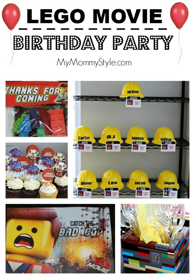 85 best Grayson's Lego Movie Themed Birthday Party images on ...