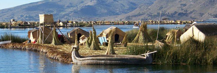 Schilfinsel Uros im Titicaca See, Peru