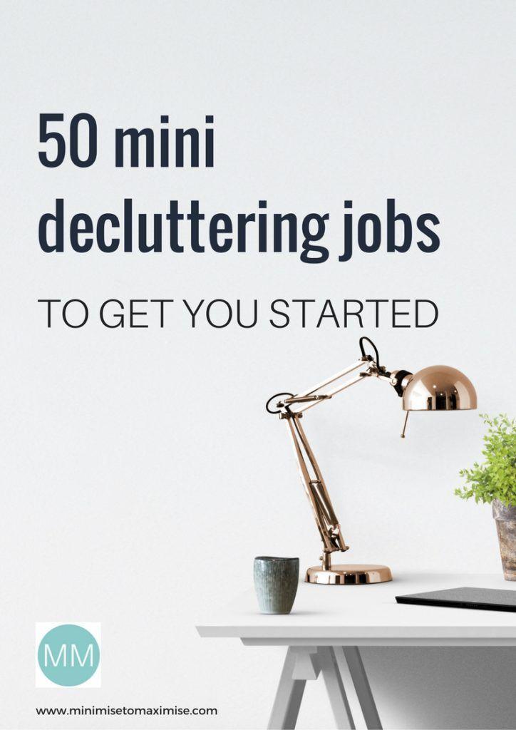 Mini Decluttering Jobs Declutter Clutter Free Home