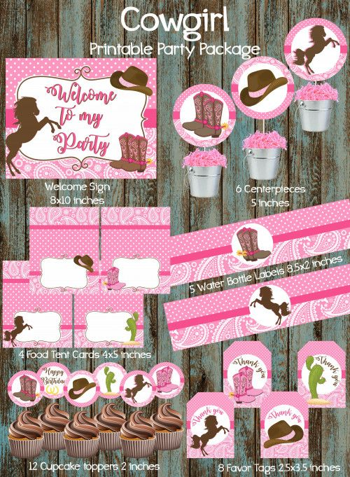 Cowgirl Party Package Birthday