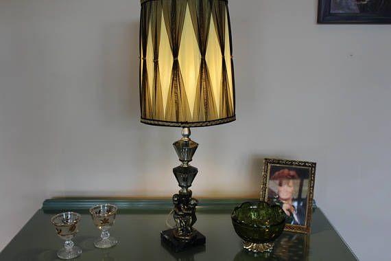 Hollywood regency lamp with shade retro lamp and drum shade mad hollywood regency lamp with shade retro lamp and drum shade aloadofball Choice Image