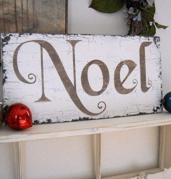 Christmas easy DIY noel sign, original wooden noel sign for 2013 Christmas, Christmas home decor