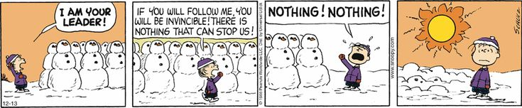 General Linus Van Pelt discovers the main weakness when it comes to his snowman army . . .