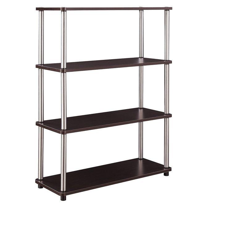 232cd63b96 Designs2Go No Tools Bookcase Black 40
