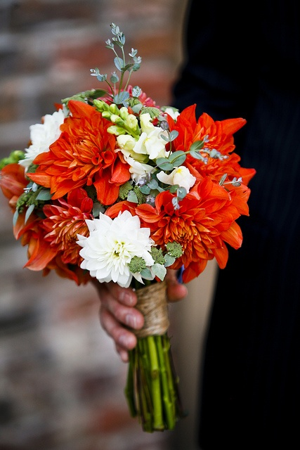 October bouquet designed by Local Color Flowers filled wiht locally grown dahlias, snapdragons and mountain mint