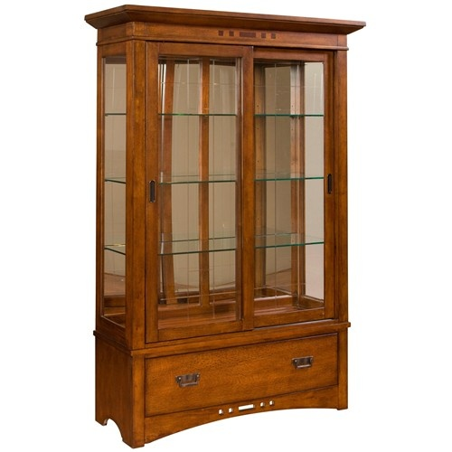 artisan ridge curio china with sliding doors by broyhill furniture furniture livingroom