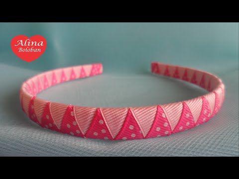 Оплетение Ободка Двумя Лентами . Мастер Класс для Начинающих  / D.I.Y. Braided Headbands two ribbons - YouTube
