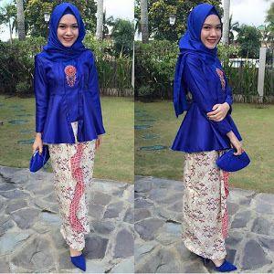 Kebaya Hijab Modern Biru - Inspirasi Model Kebaya