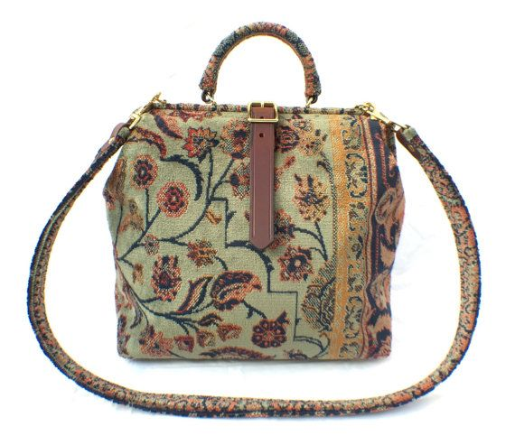 Green 'Ziegler' Carpet HandBag / Purse.