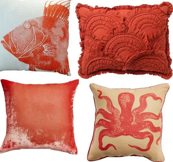 Home Decor, Some Designs Of The Beautiful And Burnt Orange Throw Pillows With The Cute And Cool Design Ideas For Your Room Decoration With The Cute Pictures With Marine Ideas With Fish And Coral ~ Look More Elegant And Beautiful Beautiful Wit Burnt Orange Throw Pillows