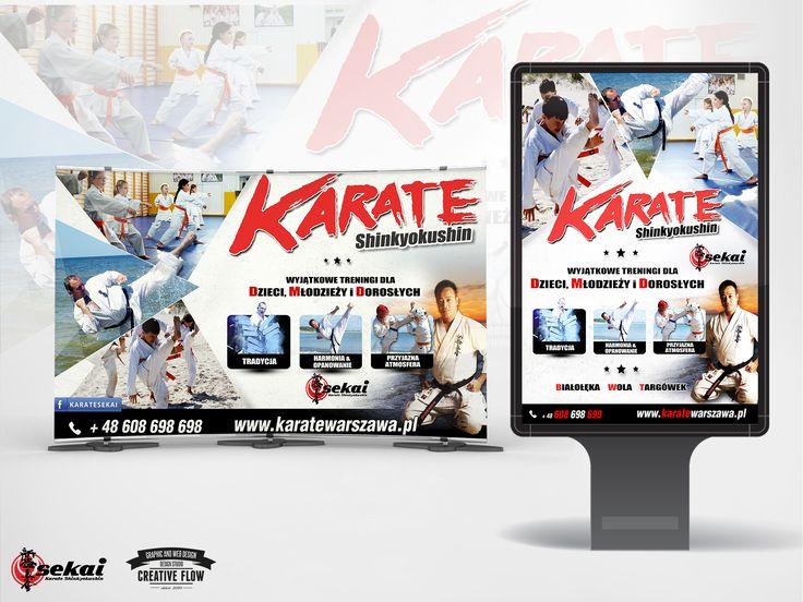 """Koncepcja graficzna kampanii reklamowej Klubu Karate """"Sekai"""" - Warszawa"""