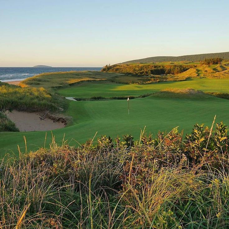 From @ashleykmayo -  Golden hour at Cabot Cliffs