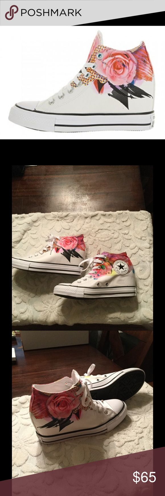 Converse Women's Chuck Taylor Lux Mid Converse Size 8 Brand new never worn. High cut with interior wedge for added height Converse Shoes Sneakers