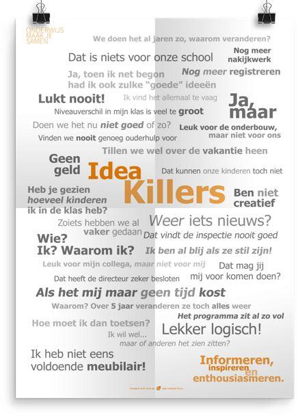 Beeld: ID killers. Prikkelende Posters Archief - Onderwijs Maak Je Samen