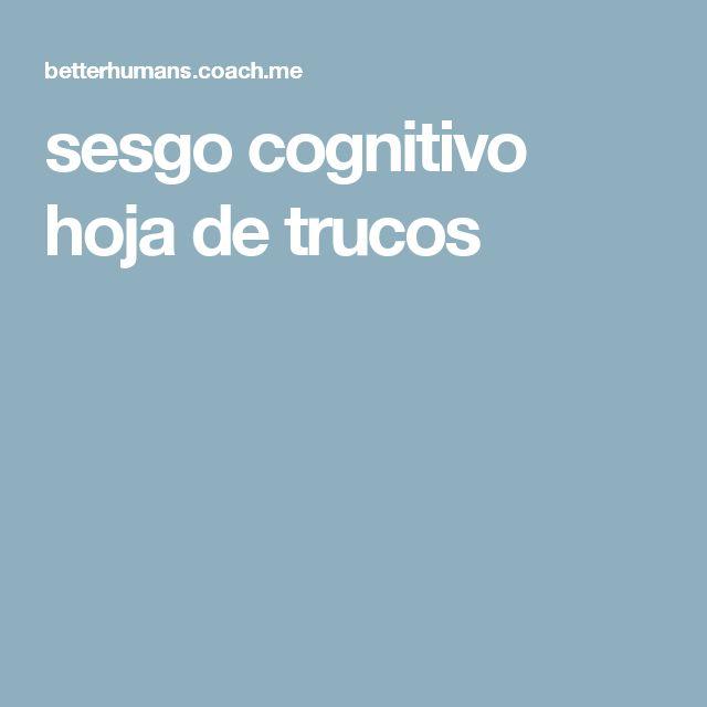 sesgo cognitivo hoja de trucos