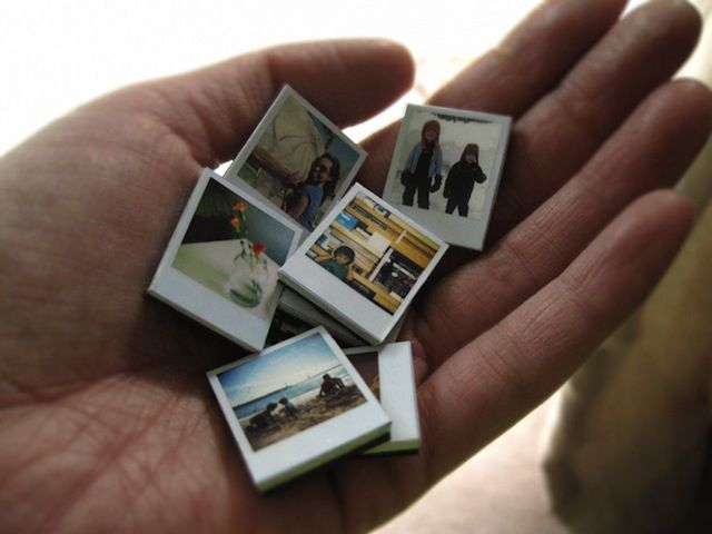 Create magnets that look like polaroid pictures!