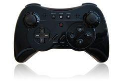 Black Pro U Controller for Nintendo Wii and Nintendo Wii U