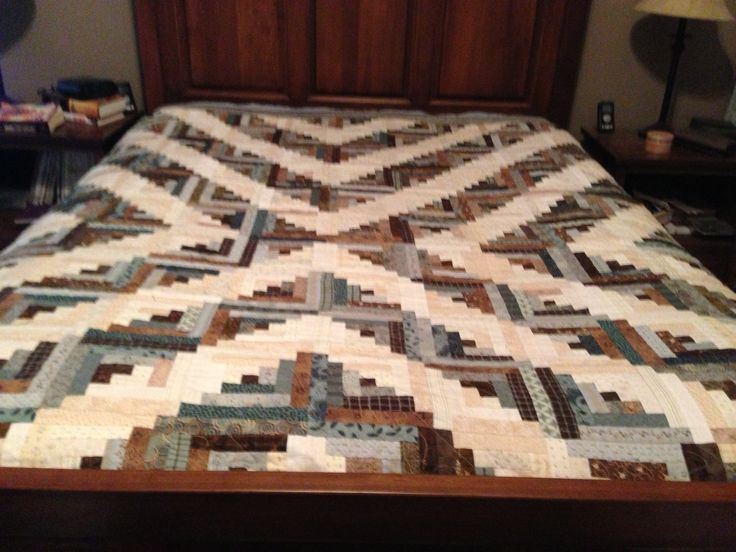 my first log cabin quilt finished in 2010