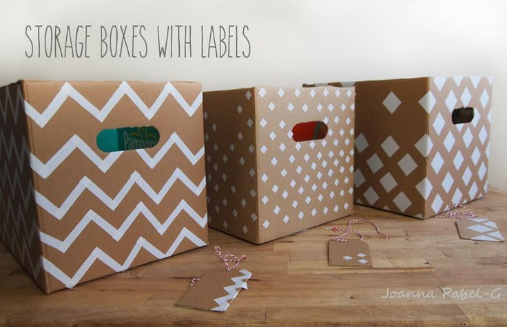 Be Creative Mommy : {DIY} How to Recycle Cardboard Boxes into Pretty Storage Boxes with Labels.