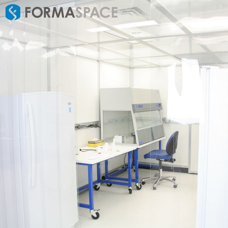 Custom Clean Room Furniture | FORMASPACE | This clean room project was built for our client in Dallas, TX. The Basix workbench and the recirculating benchtop fume hood with casters for mobility can be seen in the picture.