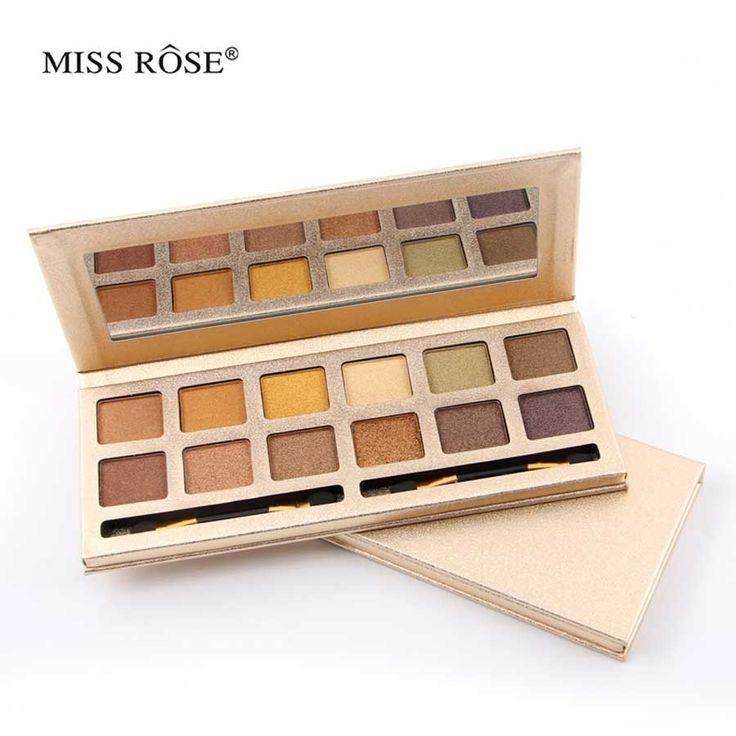 Miss rose classical work gloden eye shadow box Manual 12 matte colors color paleta Shadow Makeup eye cosmetics 7001-051ny
