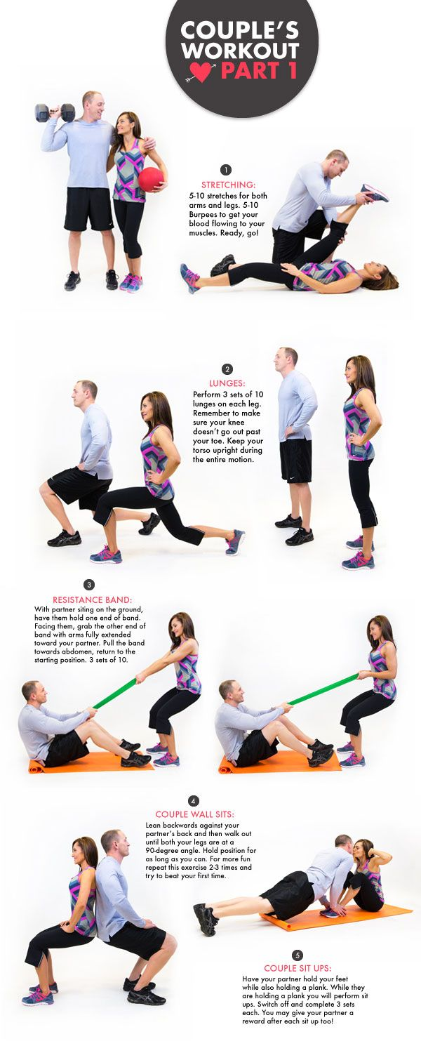 Get active with your significant other doing this couple's workout! #idealshape #getfit #workout #valentine #love