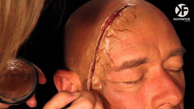 Schminken zu Halloween: Realistisches Wunden Make-up leicht gemacht -- b...