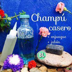 ¡Elabora champú casero con 2 ingredientes! de forma natural y económica. + enjuague y jabón.
