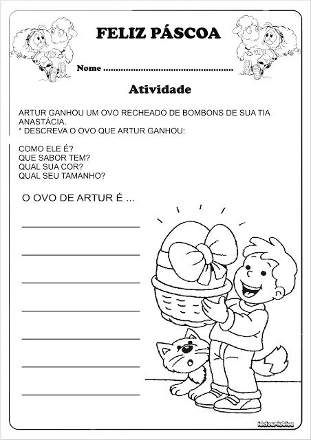 Baú Da Tia Keyla Atividades Para A Páscoa Ensino Fundamental