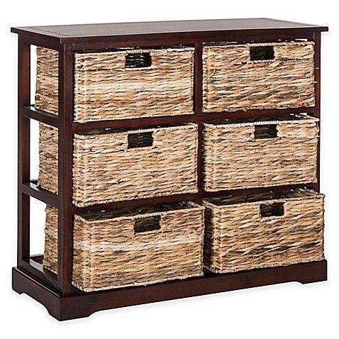 Safavieh Keenan 6 Wicker Basket Storage Chest In Winter With