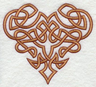 celtic knot heart: