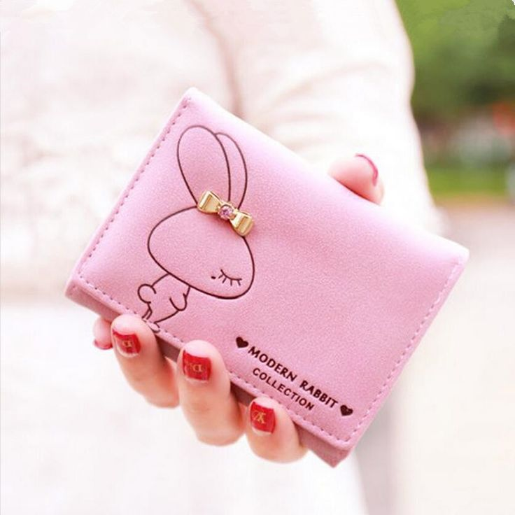 cute rabbit kids wallet for girls womens wallets children pink short money wallet small purse coin bag christmas birthday gifts