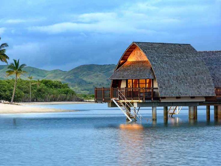 Over water villa at Marriott Momi Bay