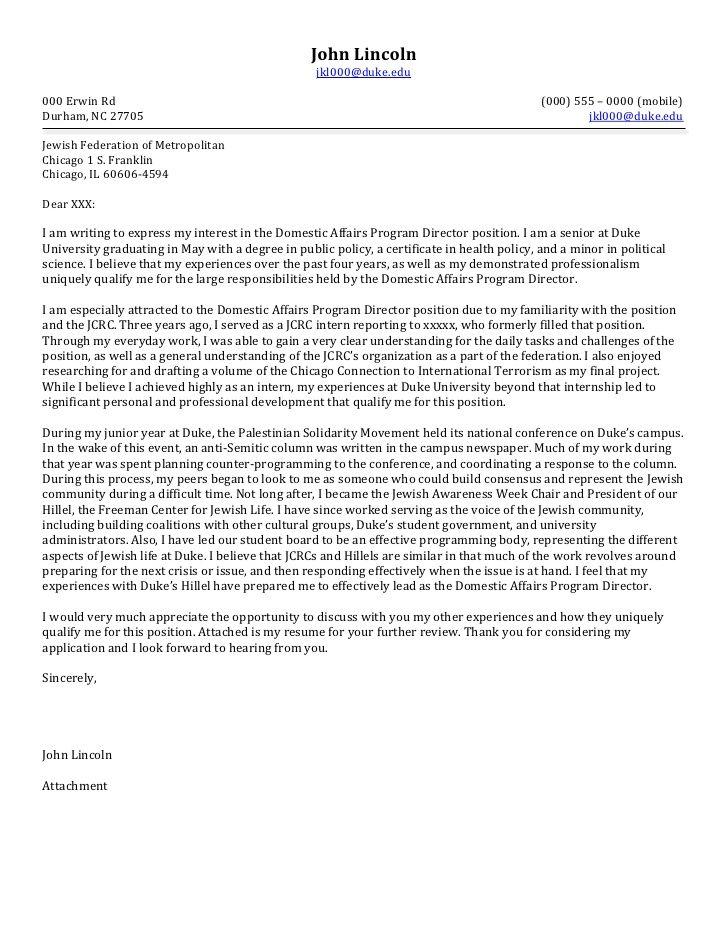 Non Profit Cover Letter Sample Cover letter for resume