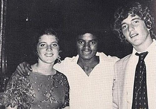 Caroline and John F. Kennedy Jr. with Michael Jackson