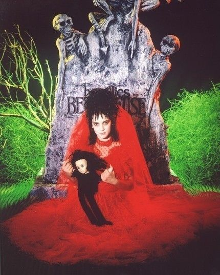 Beetlejuice Lydia Deetz Custom Wedding Veil and Bouquet. $100.00, via Etsy. (I always wanted to be Lydia!)