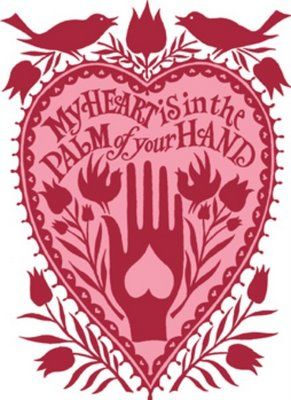 paper cut: Heart Prints, Reduce Weights, Paper Cut, Heart In Hands, Folk Art, Valentines Romantic Valentines, My Heart, Lose Weights, Weights Loss