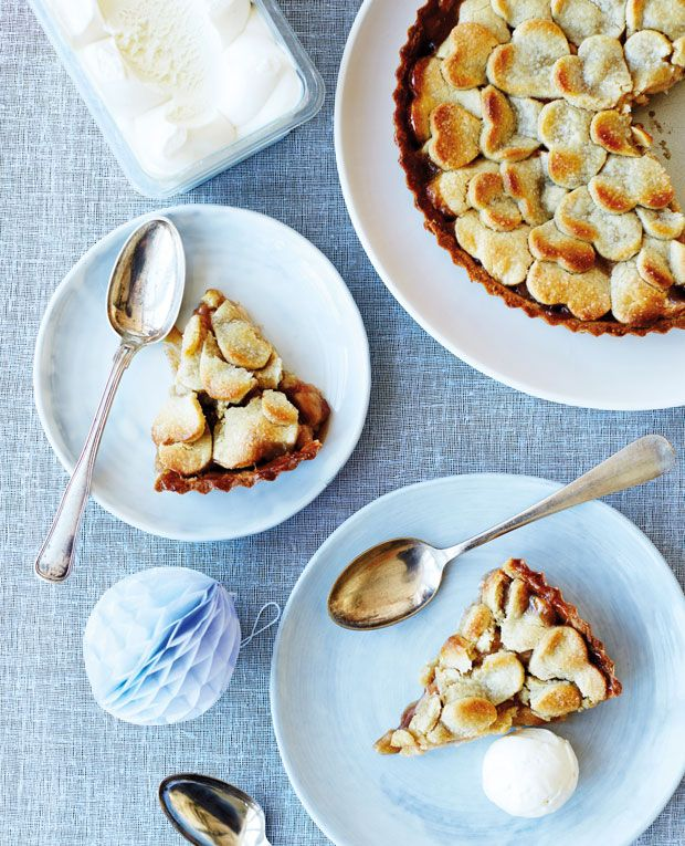 Lun æbletærte med hjertelåg