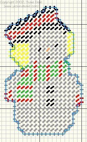 Christmas Plastic Canvas Snowman Pattern.•°•°•° Kerst; Sneeuwman Patroon voor Plastic Borduurstramien!