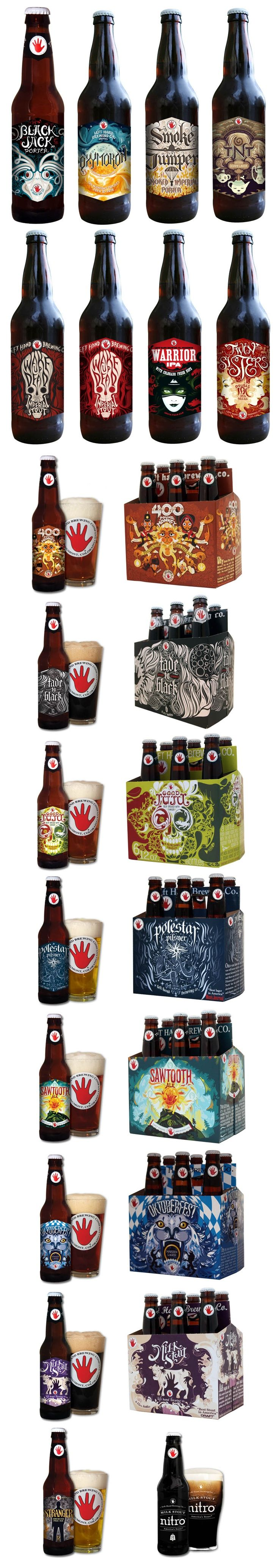Left Hand Brewing Company's wonderful labels and packaging.