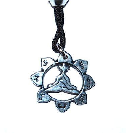 Lotus Pose Pendant – Celtic Pewter Jewellery
