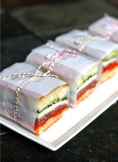 Sopressata and Provolone Italian Pressed Sandwiches This Italian pressed sandwiches look so tempting! We just love the wrapping idea, but we also love the fact they are made with ciabatta bread. Adding some basil will really bring out the Italian feel…