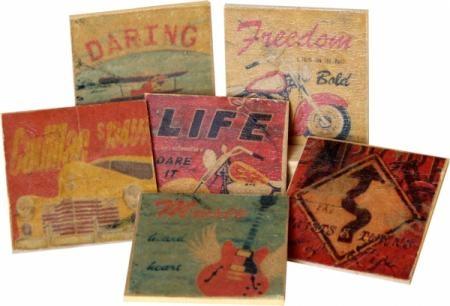posavasos vintage en dm  madera dm,papel de arroz,pinturas acrilicas decoupage