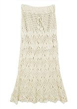 Maxi Skirt Casual Vintage Lace Crochet Boho Skirts