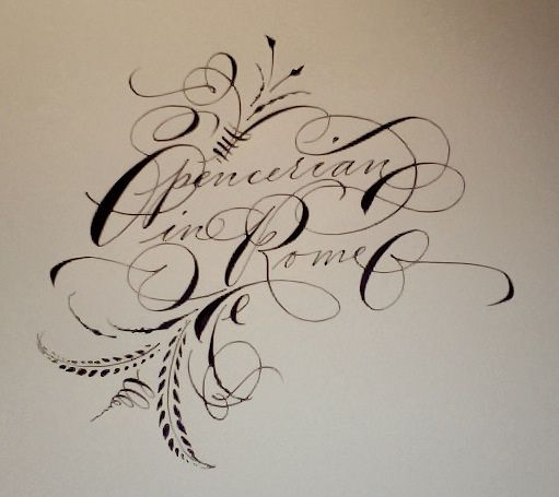 Spencerian Workshop In Rome Rome Penmanship And Embroidery