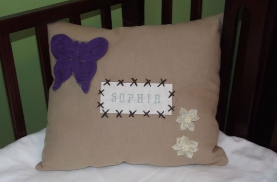 Personalized Childs Pillow by HazelLaneDesigns on Etsy, $22.50