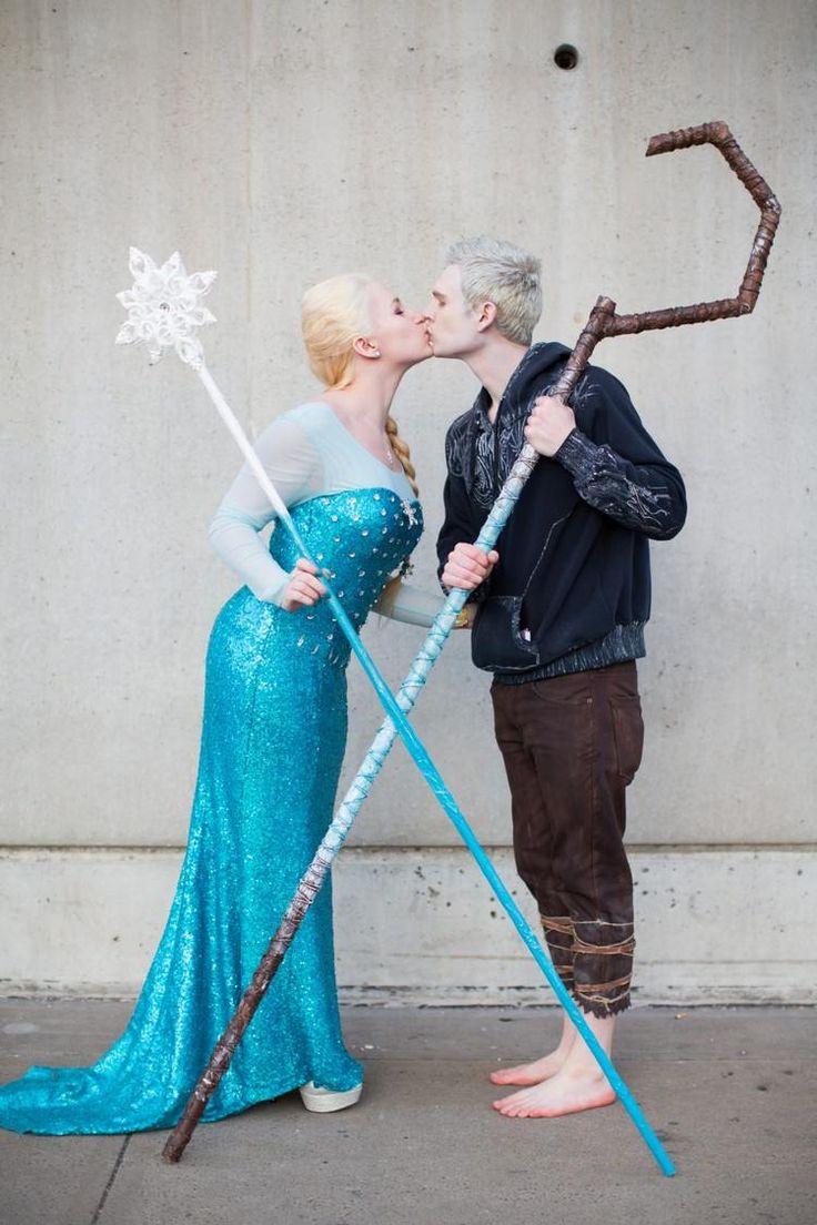 Eiskönigin und Jack Frost aus Disney Filmen